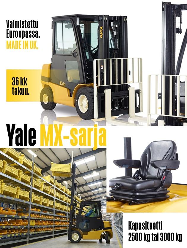Yale MX-sarjan dieseltrukki ja nestekaasutrukki